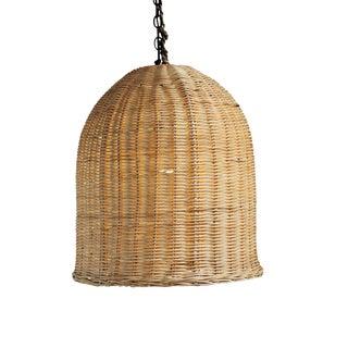 Bell Raw Wicker Lantern Small