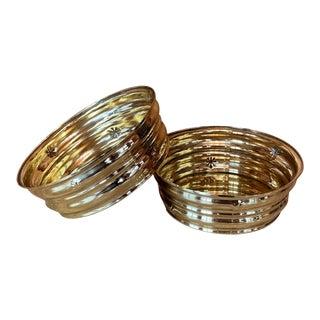 Wiener Werkstatte Brass Bowls by Dagobert Peche - Pair For Sale
