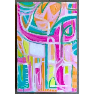 """Kokomo"" Abstract Painting by Christina Longoria For Sale"