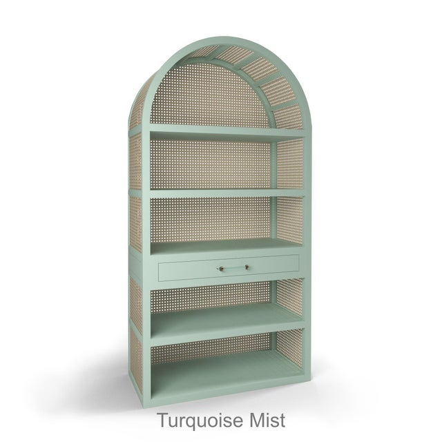 Not Yet Made - Made To Order Leila Etagere Bookcase- Turquoise Mist For Sale - Image 5 of 5