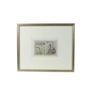 """Original Watercolor """"Argay"""" For Sale"""