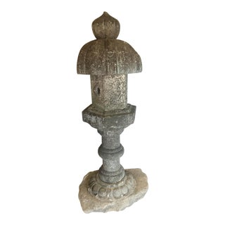 19th Century Temple Stone Lantern For Sale