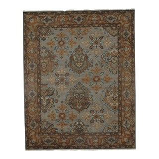 "Traditional Pasargad N Y Oushak Design Hand Knotted Wool Rug - 7'11"" X 9'9"""