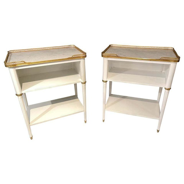 Pair of Swedish Neoclassical Open Nightstands or End Tables Manner Jansen For Sale - Image 11 of 11
