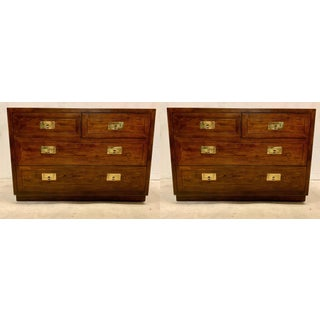 Pair of Campaign Style Chests Att. To Henredon Preview