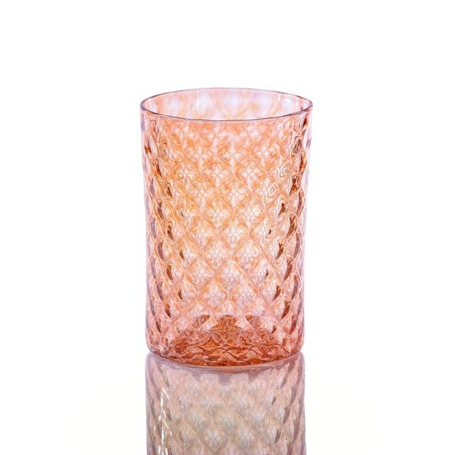 Set of 6 Mandala Drinking Glasses - 2 x Pink Lemonade, 2 x Grapefruit, 2x Pomegranate. Retro with a modern twist, Mandala...