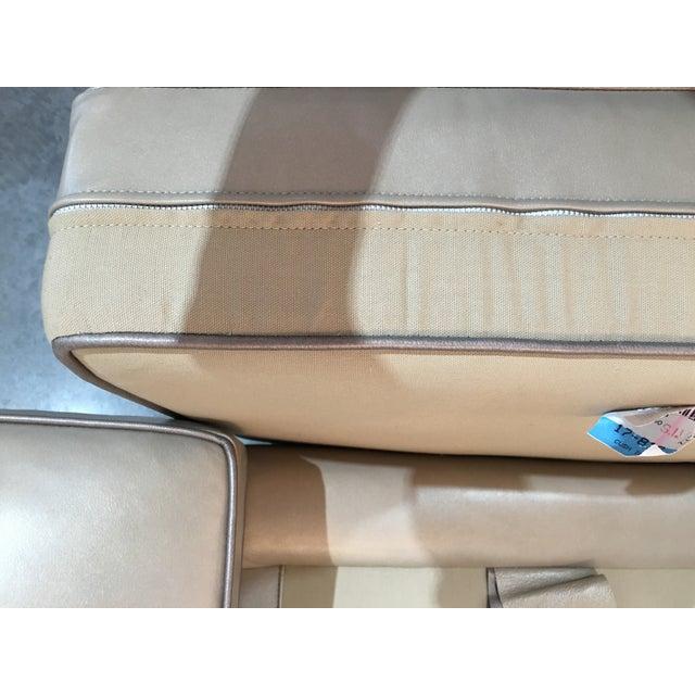 Modern LeatherCraft Custom Pearlized Italian Leather Sofa For Sale - Image 9 of 13
