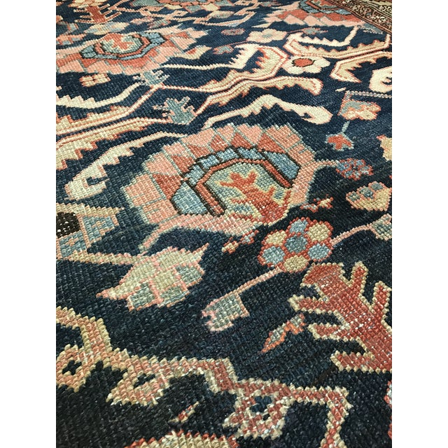 Antique Persian Heriz Carpet For Sale - Image 4 of 5