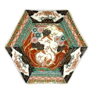 Japanese Meiji Period Hexagonal Imari Porcelain Plate For Sale