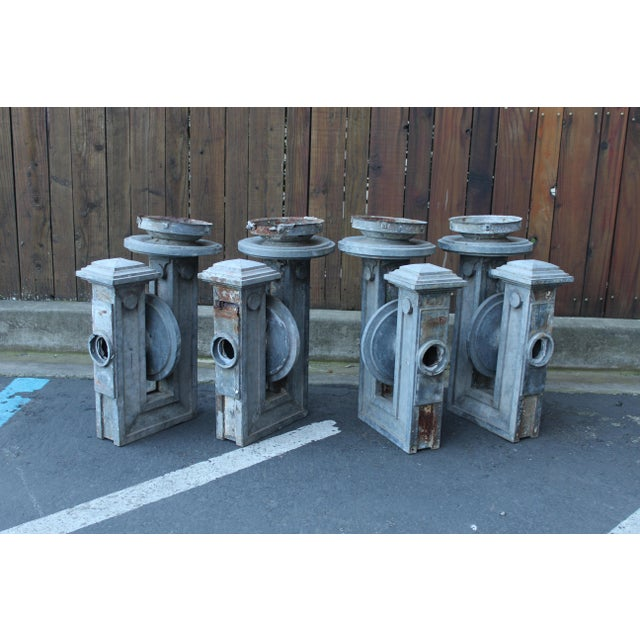 Gray Set of Four Tin Sconces For Sale - Image 8 of 8