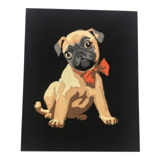 Vintage Pug Paint by Numbers Artwork For Sale