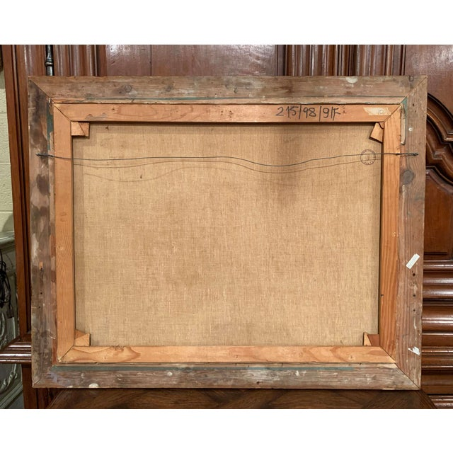 19th Century Hungarian Oil on Canvas Painting in Gilt Frame Signed & Dated, 1897 For Sale - Image 9 of 12