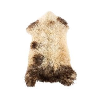 "Hand-Tanned Sheepskin Pelt Rug - 2'0""x3'4"" For Sale"