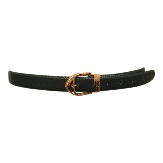 Louis Vuitton Emerald Green Ladies Leather Belt For Sale