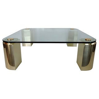 Springer-Style Brass Coffee Table
