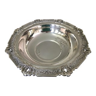 1950s Hispana Round Silverplate Serving Bowl by Gorham Silver Co. For Sale