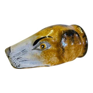 English Hound Head Stirrup Cup For Sale