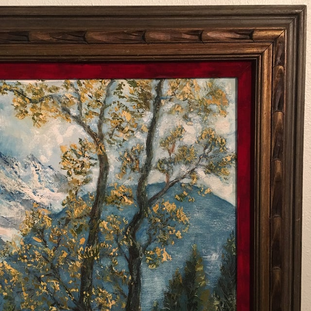 R. Woolman Mountain Landscape Oil Painting For Sale - Image 9 of 10