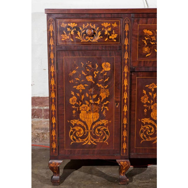Dutch Marquetry Cabinet or Fall Front Desk - Image 4 of 7