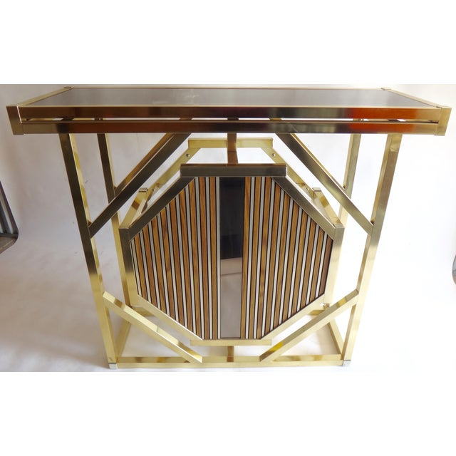 Brass Pivoting Octagon Display Bar - Image 8 of 11