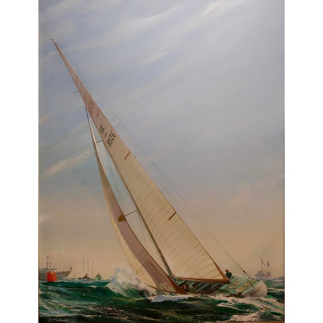 Country Kipp Soldwedel -Victory 1974 -Sailing Yacht - Original Oil Painting For Sale - Image 3 of 10