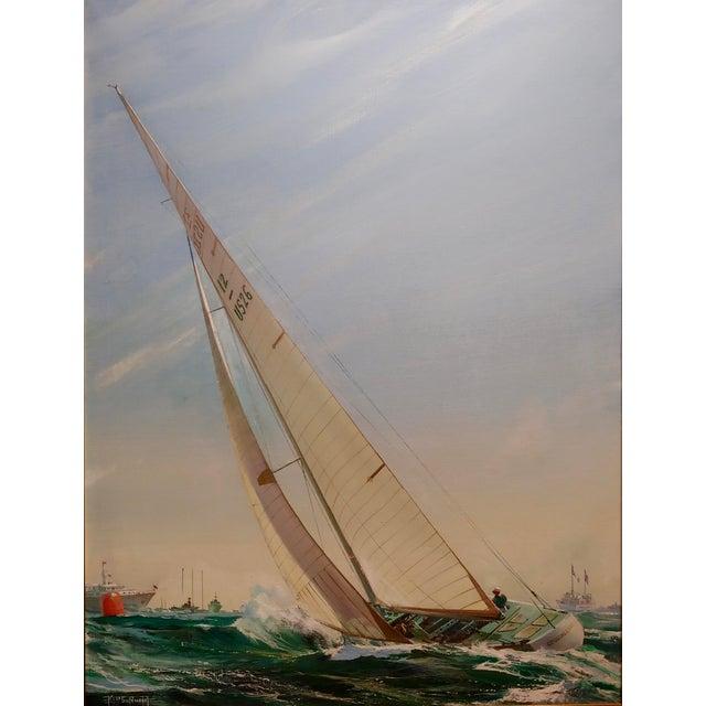 Illustration Kipp Soldwedel -Victory 1974 -Sailing Yacht - Original Oil Painting For Sale - Image 3 of 10