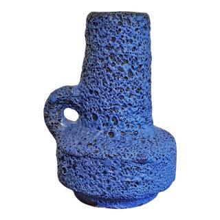 Kreutz Keramik Vase 219 With a Black and Blue Volcanic Glaze For Sale