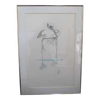 Peter Parnall Signed Limited Edition Serigraph Pelican For Sale