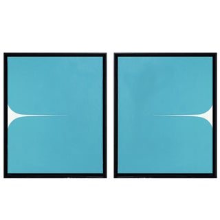 Framed Original Abstract Paintings by Brooks Burns - a Pair For Sale