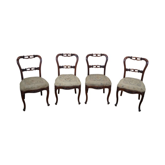 Victorian Rosewood Side Chairs- Set of 4 - Image 1 of 10