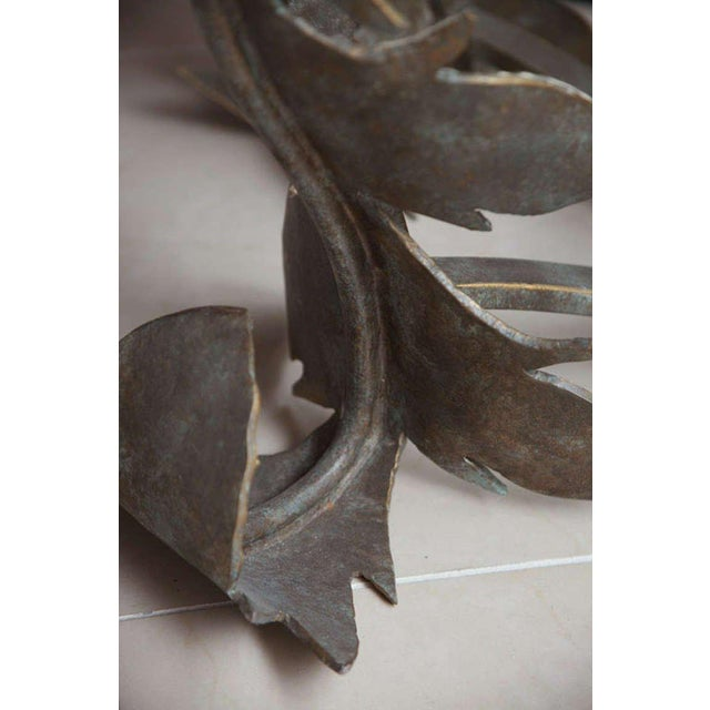 Metal Hand-Forged Low Table For Sale - Image 7 of 10