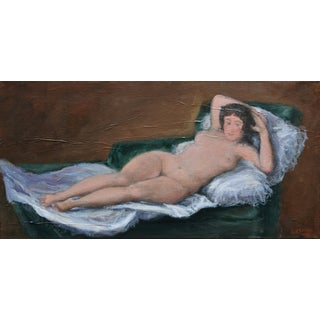 Contemporary Study of Francisco Goya's Nude Maja Painting by Stephen Remick For Sale