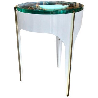 Ma+39's Custom Ivory Magnifying Lens End Table For Sale