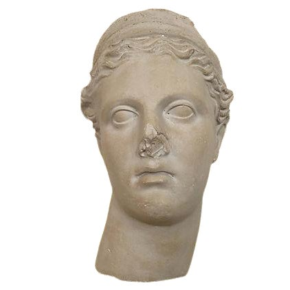 Apollo Plaster Bust Wall Hanging For Sale