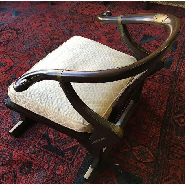 Mid 20th Century Baker Furniture Far East Collection Arm Chairs #2510 by Michael Taylor - a Pair For Sale - Image 5 of 11