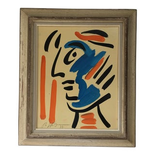 1970s Peter Keil Abstract Painting Framed For Sale