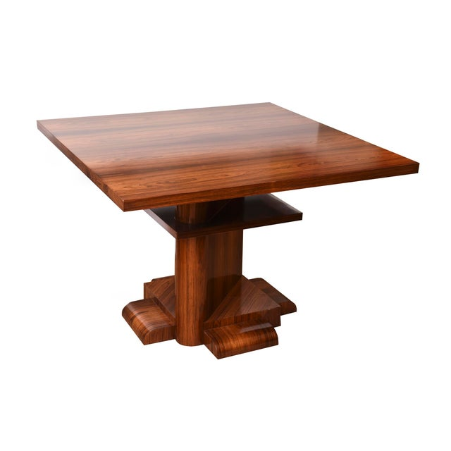 This newly restored and exquisite RARE rosewood center table/ dining table/library table designed by Larry Lazlo for...