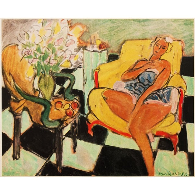 """A rare original period tipped-in offset lithograph after painting """"Danseuse Assise Dans Un Fauteuil"""" (Dancer Seated on a..."""