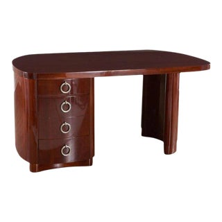 French Modern Mahogany Desk For Sale