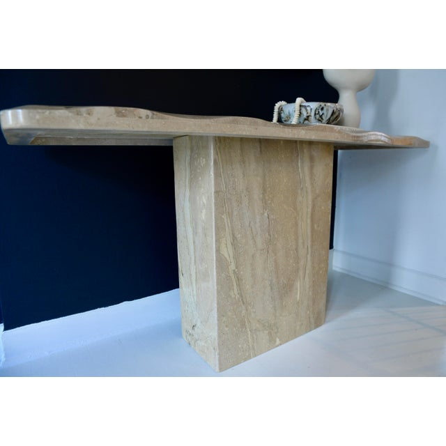 1980s Marble/Stone Console With Undulating Edge For Sale In Chicago - Image 6 of 6