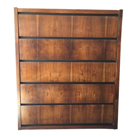 1970s Lane Walnut Highboy - Image 1 of 6