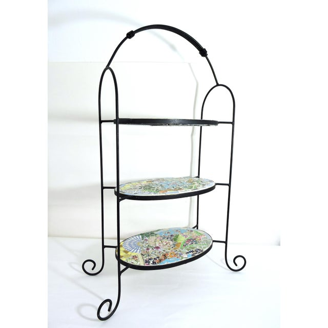 Pretty three tiered shelf unit, pedestal for plants or books or this can be used as an etagere and is suitable for...