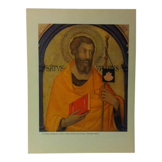 """1957 """"An Italian Painting of St. James - 14th Century"""" the Influence of the Shell on Humankind Print For Sale"""