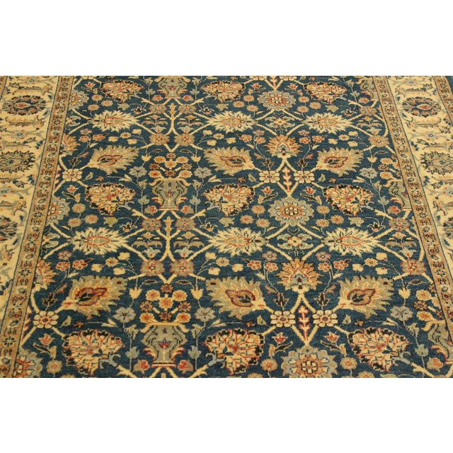 Shabby Chic Istanbul Gilbert Teal/Ivory Turkish Hand-Knotted Rug -4'2 X 5'11 For Sale In New York - Image 6 of 8