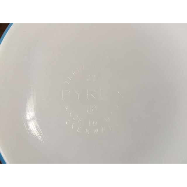 Blue Pyrex Blue Snowflake Casserole Dish For Sale - Image 8 of 8