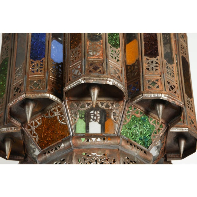 Vintage Moroccan Mamounia Glass Pendant For Sale - Image 4 of 7