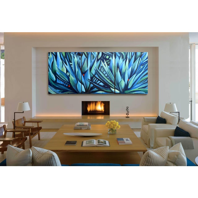 Blue 'Song of Dark Leaves' Oil Painting (Featured) For Sale - Image 8 of 9