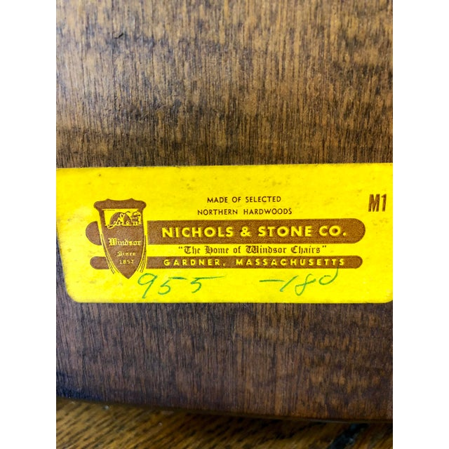 1980s Vintage Nichols & Stone Windsor Chairs- A Pair For Sale - Image 10 of 13