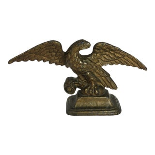 1910s Americana Cast Iron American Eagle Doorstop For Sale