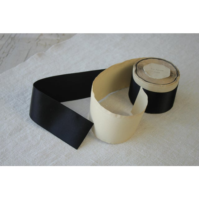 Mid 20th Century Vintage Black Hat Ribbon Or Trim - 2 Inches Wide For Sale - Image 5 of 8